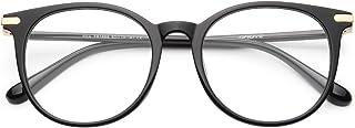 Gaoye Blue Light Blocking Glasses, Retro Round Eyewear Frame Anti UV400 Computer Glasses for Women Men - GY1688