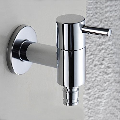 Retro Deluxe Faucetinging Badkamer & Wasmachine Tap Wasmachine Enkele Handvat Wasmachine Kraan, Koude Kraan, Koperen Wasmachine Tap HG-1189DC Kleur: wit