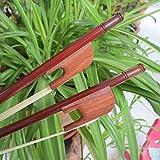 Ofgcfbvxd Pro Violin Bow Barroco sándalo del Arco de violín 4/4 Ronda de Rod Lazo Blanco Crin 70cm Accesorios for Instrumentos Musicales (Color : Marrón, tamaño : 4/4)