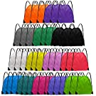 Grneric Drawstring Backpack Bulk 42 Pcs String Backpack Drawstring Bags Cinch Bag Sackpack for Kid Women Gym