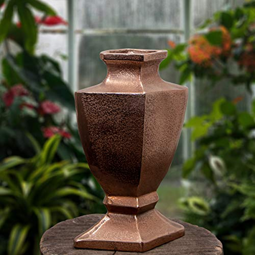 Antikas - Aluminium Vase, Amphore, Mittel, Vase, Kupferfarbend