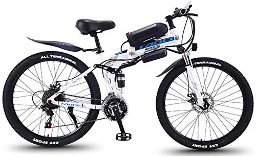 Bicicletas Eléctricas, Bicicletas eléctricas for adultos, 26 '' plegable de MTB Ebikes for Hombres Mujeres señoras, 36V 350W 13Ah extraíble de iones de litio de bicicletas E-bici, ciclo al aire libre