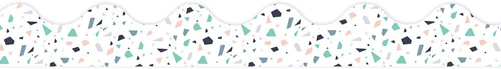 Eureka White Pink and NEW Green Bulletin Board Pattern Tr Confetti Today's only