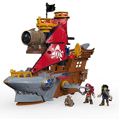 Imaginext Caribe Barco Pirata Tiburón, Multicolor (Mattel DHH61)