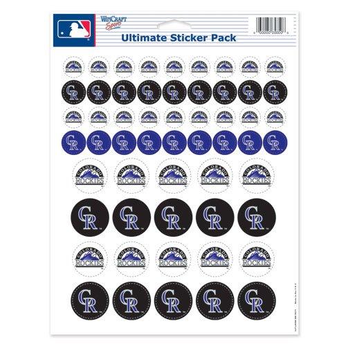WinCraft MLB Colorado Rockies Vinyl Sticker Sheet, 8.5