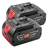 [2Pack] 18V 5.0Ah New Version Battery for Bosch 18V Battery Lithium BAT609 BAT609G BAT618 BAT618G BAT619 BAT619G BAT622 BAT620