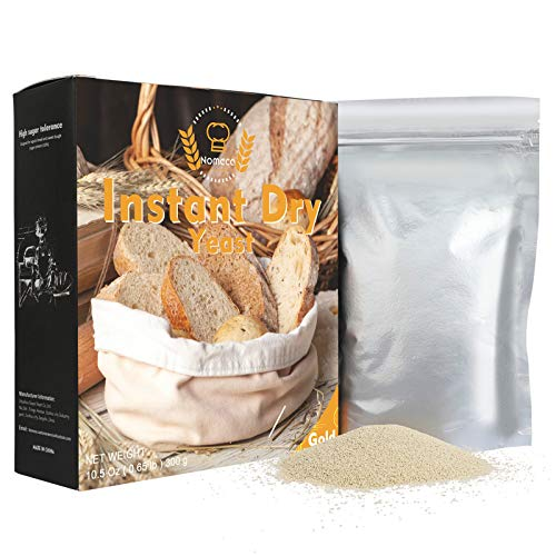 Nomeca Instant Dry Yeast for Bread Making, (Gold, 10.5 Ounce) Fast Acting Instant Yeast for Baking Cake, Bread, Pizza and Sweet Dough, Gluten Free, Non GMO, Vegan