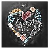 Calendario 2021 da Muro Lily & Val, calendario frasi, 16 mesi, 30x30cm...