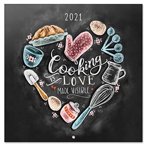 Calendario 2021 da Muro Lily & Val, calendario frasi, 16 mesi, 30x30cm