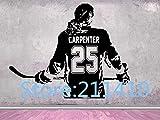 ASFGA Nombre de Etiqueta de Pared de Chica de Hockey Jugador de Hockey Femenino de Hockey Elige Nombre y número de Camiseta calcomanía de Pared de Hockey 127X162 cm