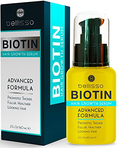 Bellisso Biotin Serum for Hair Growth - Hair Thickening and Strengthening Products for Men and Women - With Natural Oil - Treatment Tonic for Hair Loss and Thinning