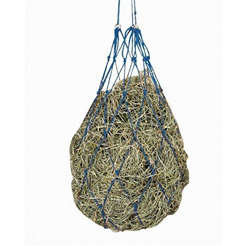 Kerbl Heunetz Heuraufe Beschäftigungsnetz Heusack Futternetz, Maschen 10 x 10 cm, Blau