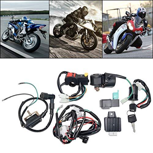 Maso - Sistema de encendido completo de cableado eléctrico para 50 cc, 70 cc, 90 cc, 110 cc, 125 cc, Quad Dirt Bike ATV Dune Buggy