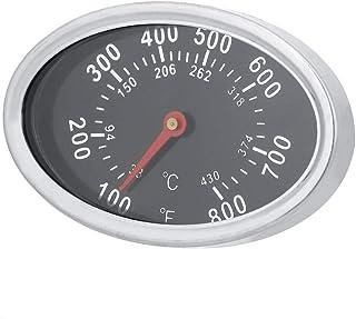 Ladieshow Rostfritt stål BBQ rökare grill termometer temperaturmätare 430 ℃