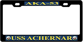 AishanDecorPros License Plate Frame 2 Holes, Aluminum Metal License Plate Cover, Novelty Car Tag Holder for US Vehicles