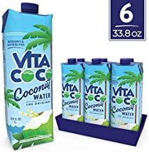 Vita Coco Coconut Water, Pure Original | Natural Hydrating Electrolyte Drink | Shelf Stable | Smart Alternative to Coffee, Soda, and Sports Drinks | Gluten Free | 33.8 Ounce (Pack of 6)