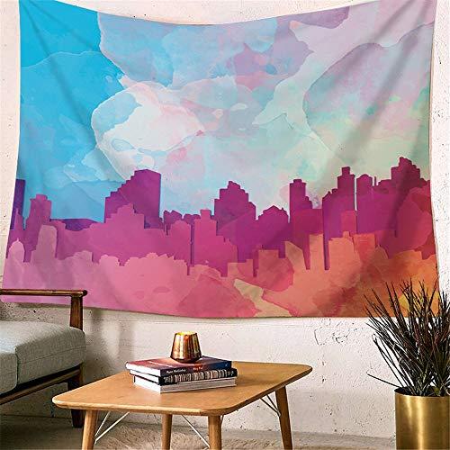 Muur Woondecoratie Kunst Abstract Olieverf Wandtapijt Deken Kleur Tapijt Muur Opknoping Mandala Bloem Sprei Kleurrijk Wandtapijt Roze Paars Blauw Blad