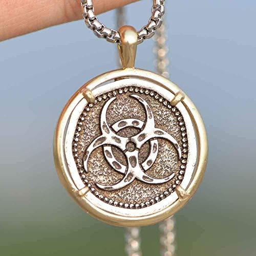 WYDSFWL Collar Collar Gótico Hombres Símbolos Celtas Joyería Militar Biológica Collar Collar