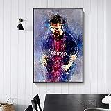 Graffiti Abstracto fútbol Deportes fútbol Estrella Jugador Rey FC Barcelona Lionel Messi Lienzo Pintura Pared Arte Cartel Ventiladores Dormitorio Sala de Estar decoración del hogar