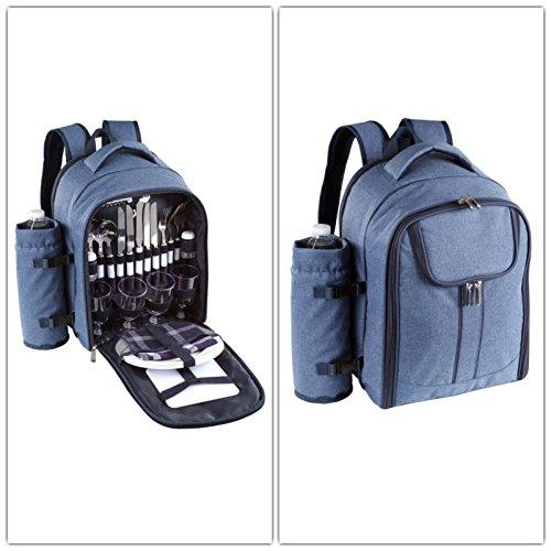 Be nomad - sep114b - Sac à dos picnic isotherme 4 personnes bleu
