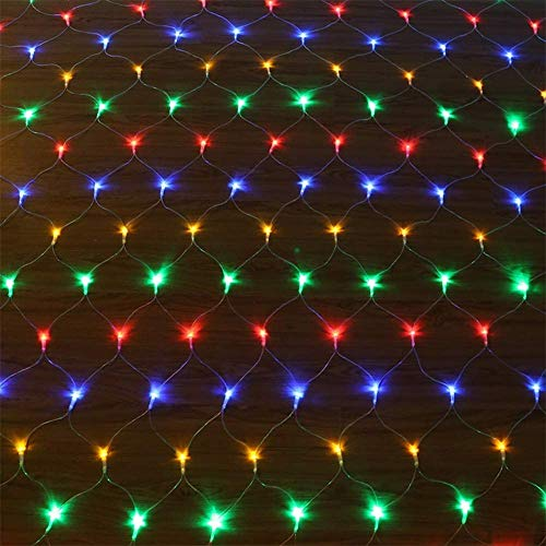 kemooie198LED Net Mesh Fairy String Decorative Lights 98ft x 66ft with 30V Safe Voltage for Christmas Outdoor Patio Garden Decorations Multicolor