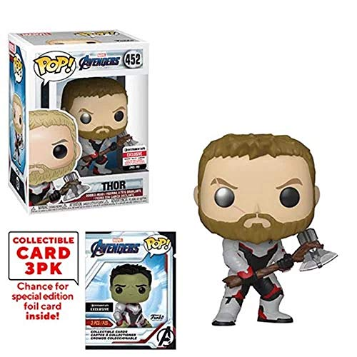 Funko Pop! Marvel : Avengers Endgame Thor Vinyl Figure with Collector Cards - Entertainment Earth Exclusive