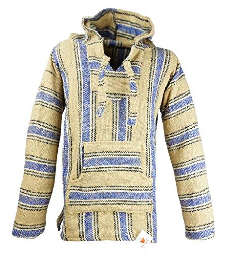 Funny Guy Mugs Premium Baja Hoodie Sweatshirt Pullover Jerga Poncho (El Paso, X-Large)