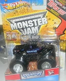 Hot Wheels 2010 1/64 Monster JAM Grave Digger 30th Anniversary with Topps Card Collectible Inside Predator Monster Truck