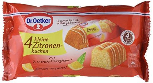 Dr. Oetker fertige kleine Zitronenkuchen 4er, 5er Pack (5 x 140 g), Mini Zitronen-Rührkuchen mit Zitronen-Fettglasur, einzeln verpackt, sofort verzehrfertig, ideal für unterwegs