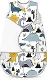 AAZX Babyschlafsack Baby Wraps Wickelschlafsack Baby Wings Schlafsack Baby Crawl, Dinosaur -S