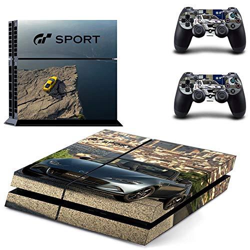 FENGLING Calcomanías de Piel Protectora Modelo Gran Turismo Sport para Playstation 4 Ps4 Pegatina de Consola para Cubiertas de Controladores Ps4 2