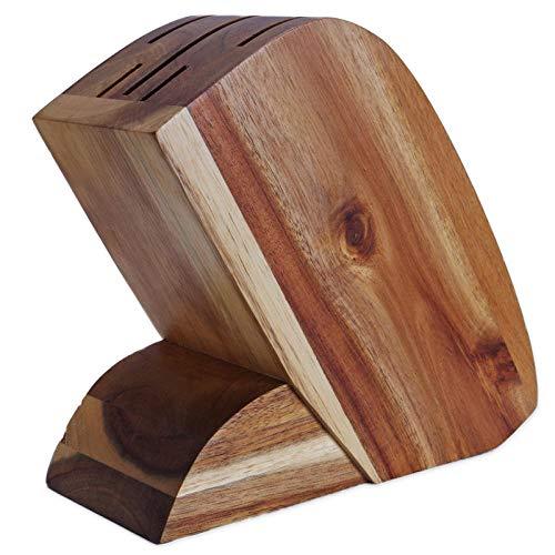 KNFBOK messenblokken zonder messen keukenbenodigdheden, creatieve en praktische Acacia houten messenhouder
