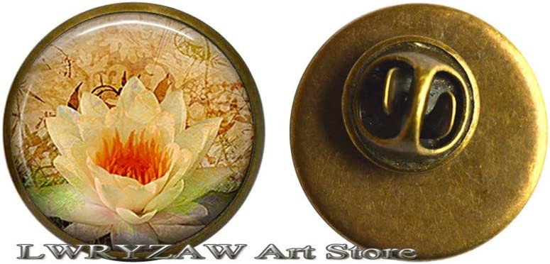 Golden Lotus Pin Max 54% OFF Brooch Meditation Jewelry Brand new