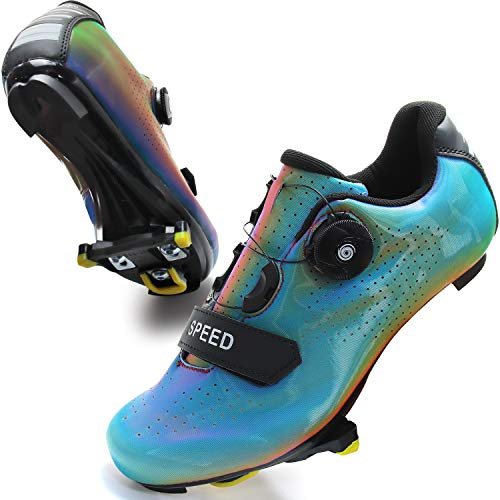 RPORNDY Mens Women Road Bike Cycling Shoes Riding Shoes with Compatible Cleat Peloton Shoes and SPD/SPD-SL & Lock Cleats Outdoor Cycling Shoes
