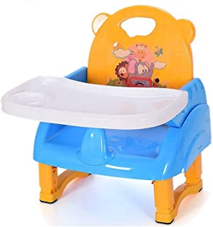 ZOUJUN Children's Dining Chair Multi-Function Foldable Convenient Baby Small Stool with Backrest Seat Travel Is Easy to Ca...