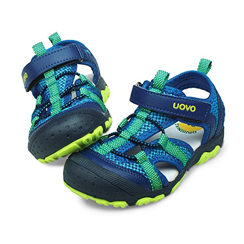 UOVO Boys Sandals Kids Sandals Hiking Athletic Closed-Toe Beach Summer Sandals for Boys Quick-Drying