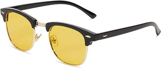 NIEEPA Semi Rimless Polarized Sunglasses Classic Metal Retro Rivets Sun Glasses