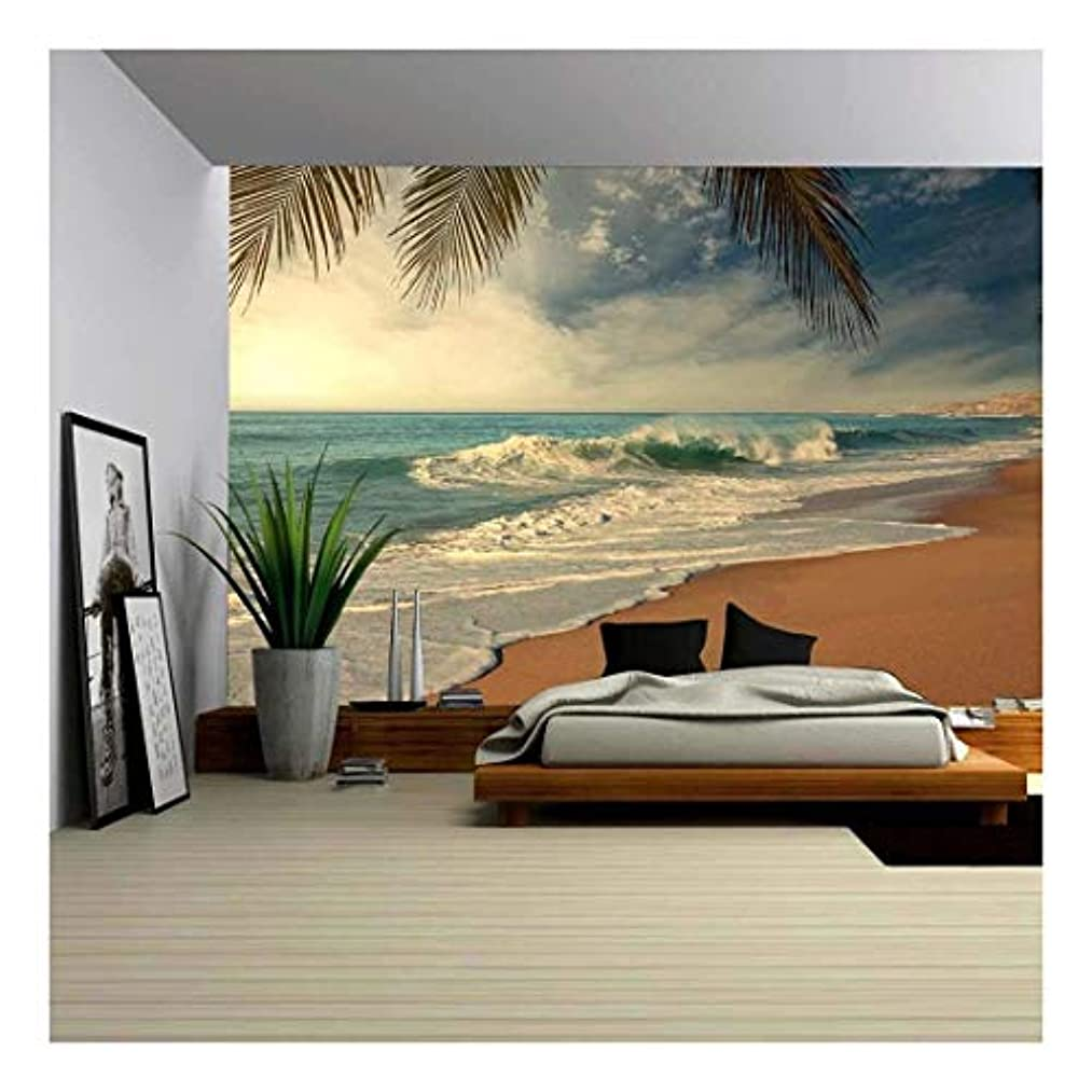 wall26 - Tropical Beach - Removable Wall Mural | Self-adhesive Large Wallpaper - 100x144 inches