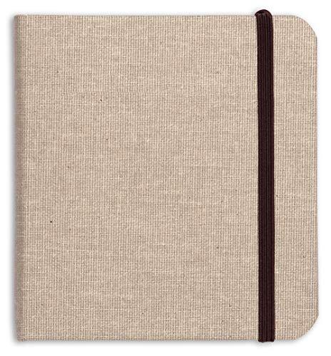 Clairefontaine 96102C Goldline - Cuaderno de viaje (64 páginas, 15 x 15 cm, 180 g, tapa de tela y cierre elástico)