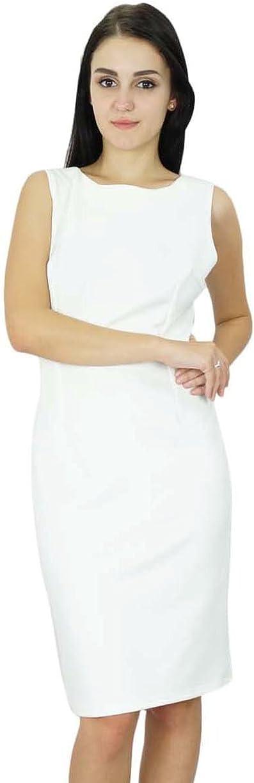 Bimba Womens Classic Slim Fit Bodycon Sleeveless Formal Midi Custom Dress