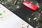 Crumpy Krümelbürste, Krümelroller Tischroller Tischbesen Teppichbürste Tischkehrer Handstaubsauger Tischdecken Bürste Auto Caravan staubsauger Rapido Rot - 4