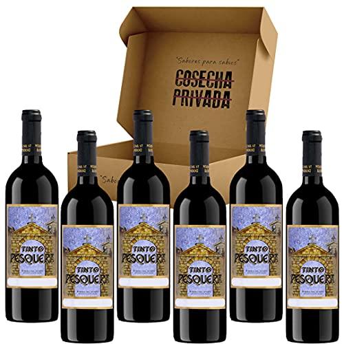 Pesquera Original - Envío Gratis 24 H - 6 Botellas - Bodega Alejandro y Eva Fernandez - Ribera del Duero - Estuche Regalo Vino - Seleccionado y enviado por Cosecha Privada