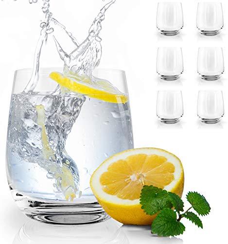 "HEYNNA® ""Llano"" 6er Trinkgläser Set 360ml Wassergläser/Made in Europe - 360ml Fassungsvolumen/Spülmaschinenfest"