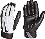 Nike Mens D-Tack 6 Lineman Gloves (X-Large, White/Black)