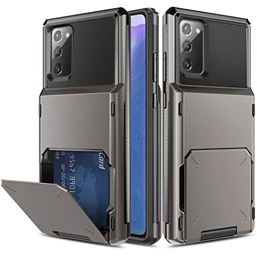 Elegant Choise Galaxy Note 20 Phone Case, Wallet Case Card Holder Shell (Up to 4 Cards) with Card Slot Holder Hybrid Dual Layer Rugged Protective Hard Shell Case Cover for Galaxy Note 20 (Black)