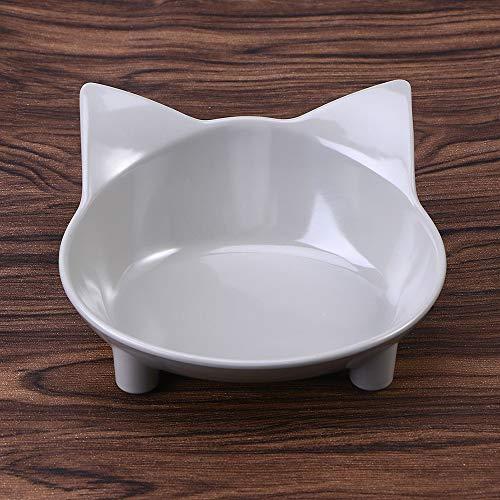 Samtlan Juego de 2 cuencos de melamina, diseño de gatito co