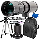Ultimaxx 420-800mm (w/Converter 840-1600mm) f/8.3-16 Manual Telephoto Zoom T-Mount Lens Kit for Canon EOS Rebel T3, T3i, T4i, T5, T5i, T6, T7 T6i, T6s, T7i, SL1, SL2, EOS 60D, 70D, 77D, 80D