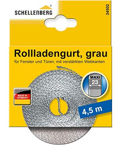 Schellenberg 34502 Rollladengurt 23 mm x 4,5 m - System MAXI, Rolladengurt, Gurtband, Rolladenband