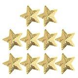Healifty 10 parches decorativos con diseño de estrella con lentejuelas bordadas...