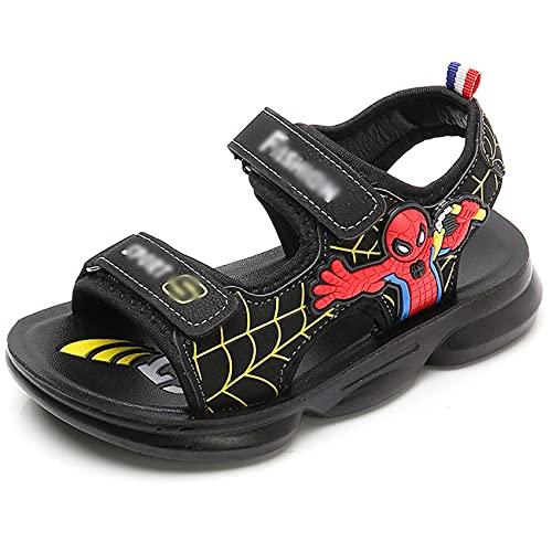 GJzhuan Boys Spiderman Zapatillas De Dibujos Animados Sandalias De Dibujos Animados Zapatos para Niños Beach Clogs Sliders Deportes Entrenadores Deportes Al Aire Libre Abre Toe Baño Flip Flop